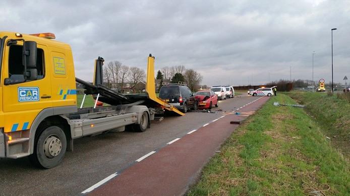 Het ongeluk gebeurde op de Parallelweg in Bruchem.