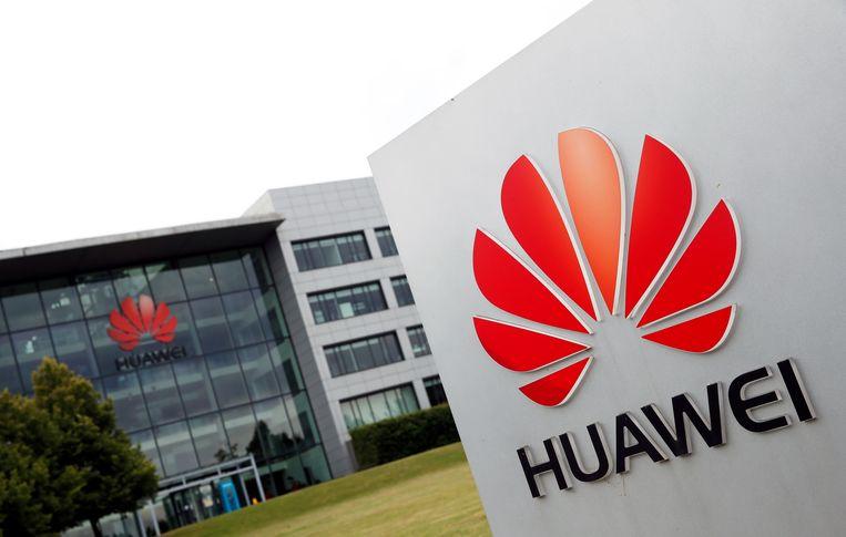 Het Britse hoofdkantoor van Huawei in Reading , ten westen van Londen.