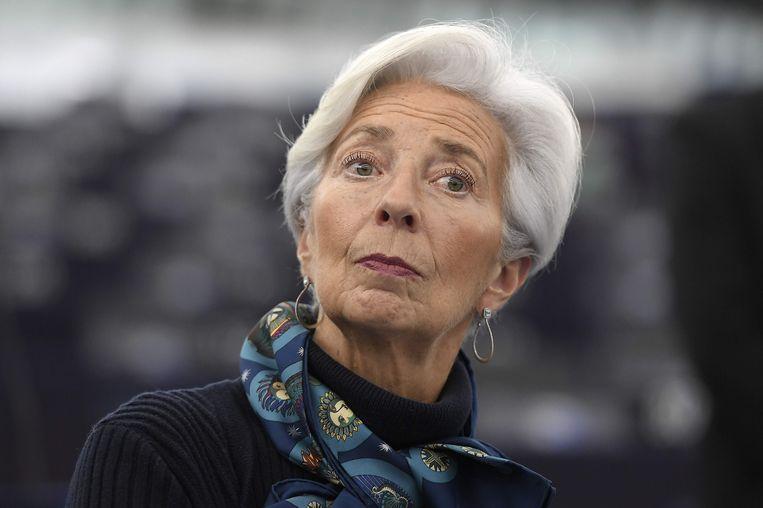 De voorzitter van de ECB, Christine Lagarde.