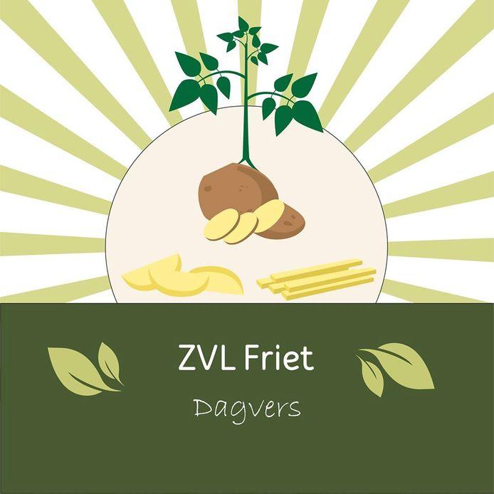 Logo ZVL Friet van landbouwbedrijf Steijaert bij Nieuw Namen.