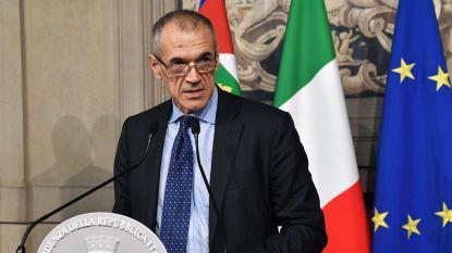 Ex-topman IMF krijgt opdracht Italiaanse noodregering te vormen, in september of begin 2019 nieuwe verkiezingen