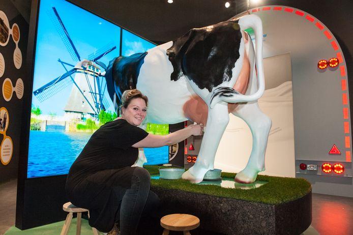 Het paneel met informatie voor toeristen over het Groene Hart wordt vrijdag onthuld in de Gouda Cheese Experience.