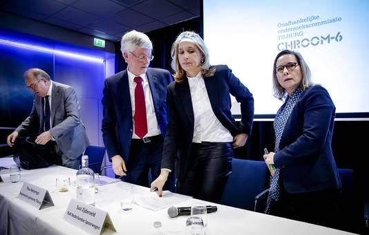 Pas zijn de uitkomsten van een groot onderzoek naar Chroom-6 gepresenteerd. Peter van der Velden (Commissievoorzitter Tilburg Chroom-6), Theo Weterings (burgermeester van Tilburg), Susi Zijderveld (RvB Nederlandse Spoorwegen) en Nicole Kuppens (Directie Spoorwegmuseum).