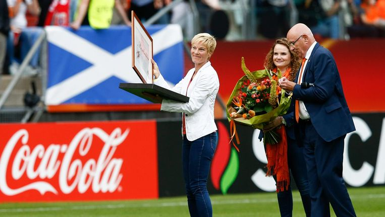 De KNVB heeft Vera Pauw zondag benoemd tot bondsridder. Beeld anp