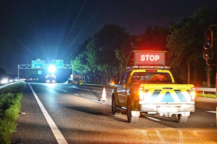 Ongeluk op de A58.