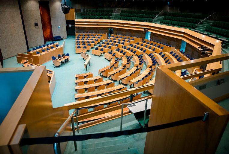 Een lege Tweede Kamer.  Beeld ANP