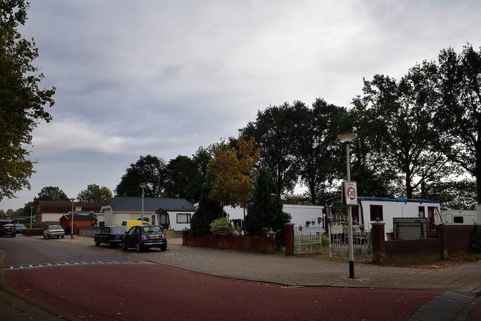 Het woonwagenkamp aan de Sportstraat in Roosendaal.