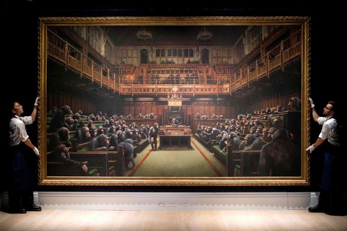 'Devolved Parliament' van Banksy.