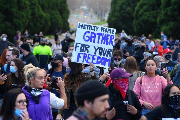 Anti-lockdonwprotest Melbourne.