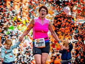 'Mijn overleden man was tijdens de hele marathon bij me'