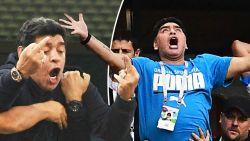 Triest dieptepunt na gênante vertoning: Maradona moet uit stadion gedragen worden