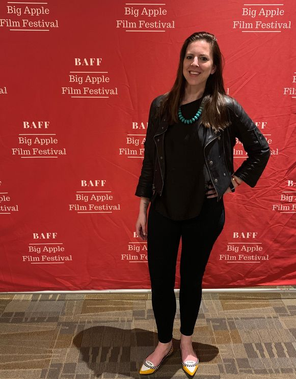 Debby Huvaere, oorspronkelijk uit Pittem, op de loper van het Big Apple Film Festival in New York.