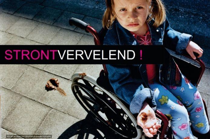 De gratis affiche tegen hondenpoep kan aangevraagd worden via de website van de stad Herentals.