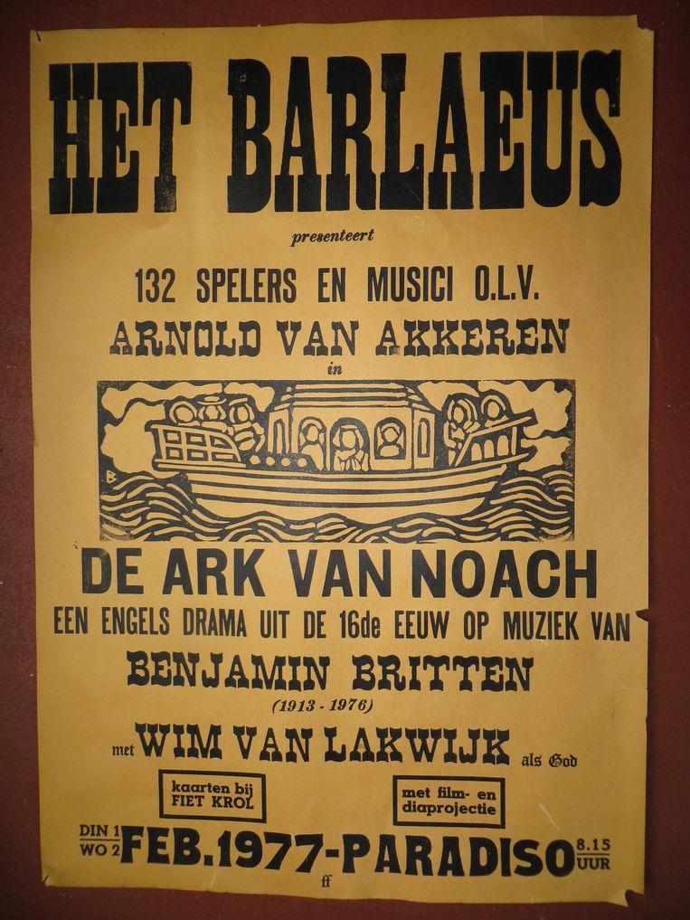 Het affiche voor de voorstelling Beeld Guido Frankfurther