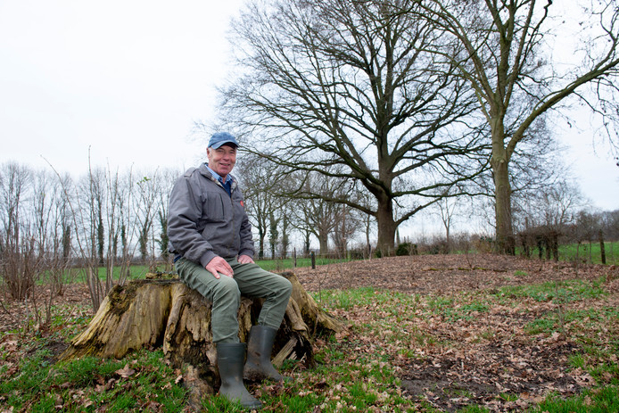 Jan Bouwmeester bouwt zijn eigen landgoed, en mag straks begraven worden op zijn eigen land, onder de grote eikenboom.