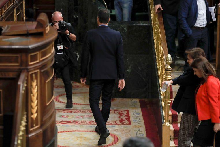 Sánchez moest deze week afdruipen in het parlement nadat zijn begroting verworpen werd.