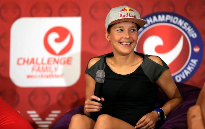 Rachel Klamer doet op het EK in Weert mee aan de mixed team relay.