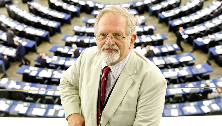 Hans Jansen in het Europees Parlement in Straatsburg. Beeld anp
