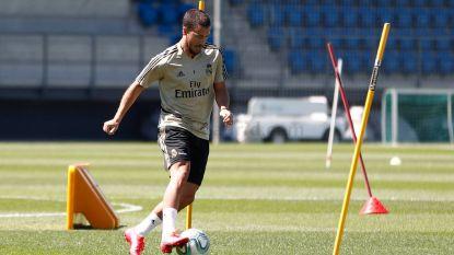 Eden Hazard flitst in partijtje op training met een hattrick, waarvan eerste goal Realfans doet dromen