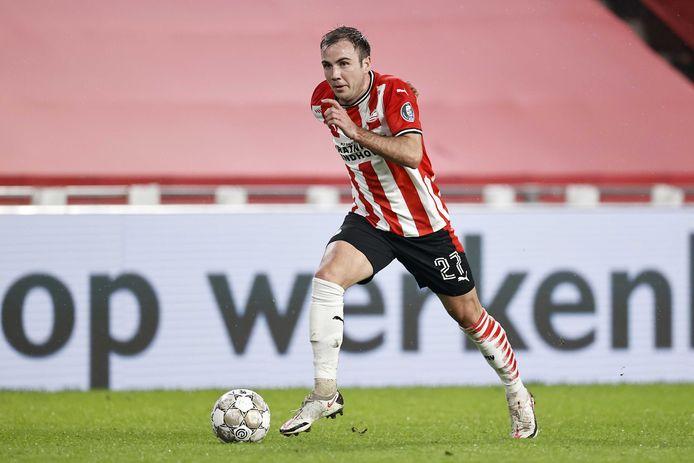 Mario Götze is niet goed uit de winterstop gekomen, die hij (zie boven) met PSV met een 4-1 overwinning op VVV inging.