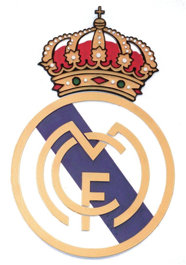 Het logo van Real Madrid Beeld ANP