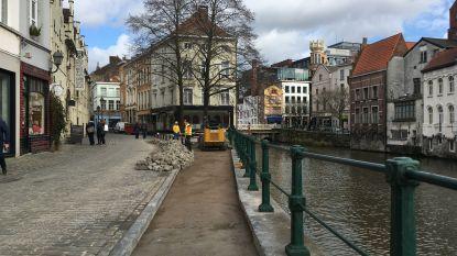 Gent krijgt wandelroute voor mensen met een beperking, voetpad Kraanlei wordt alvast aangepakt