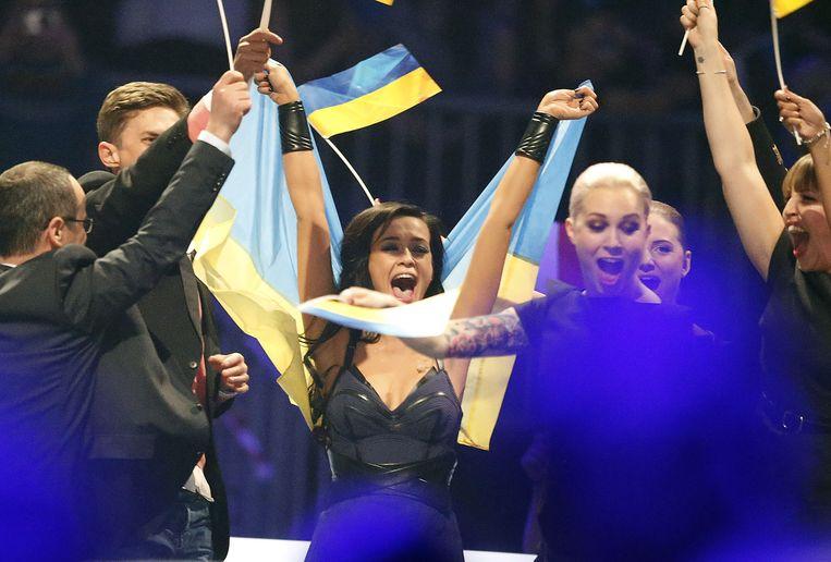 De Oekraïense Mariya Yaremchuk is door het dolle heen.