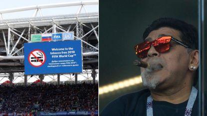 Rookvrij stadion? Niet voor Diego Maradona