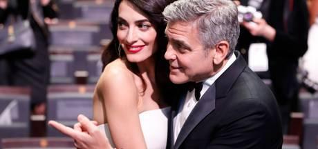 George en Amal Clooney bang dat hun baby's medepassagiers storen