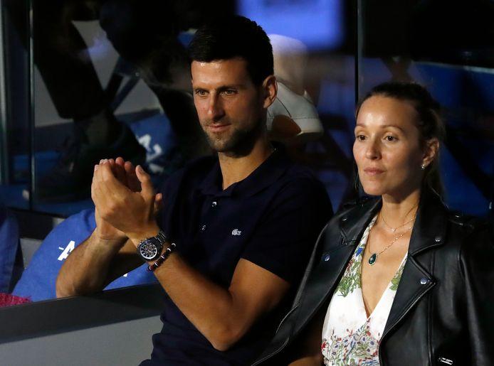 Novak Djokovic  en zijn vrouw Jelena.