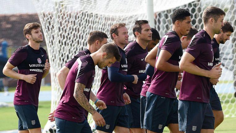 Het Engelse team tijdens een training in Rio de Janeiro. Beeld epa