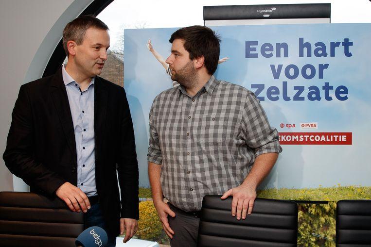 Geert Asman (PVDA) en Brent Meuleman (sp.a).