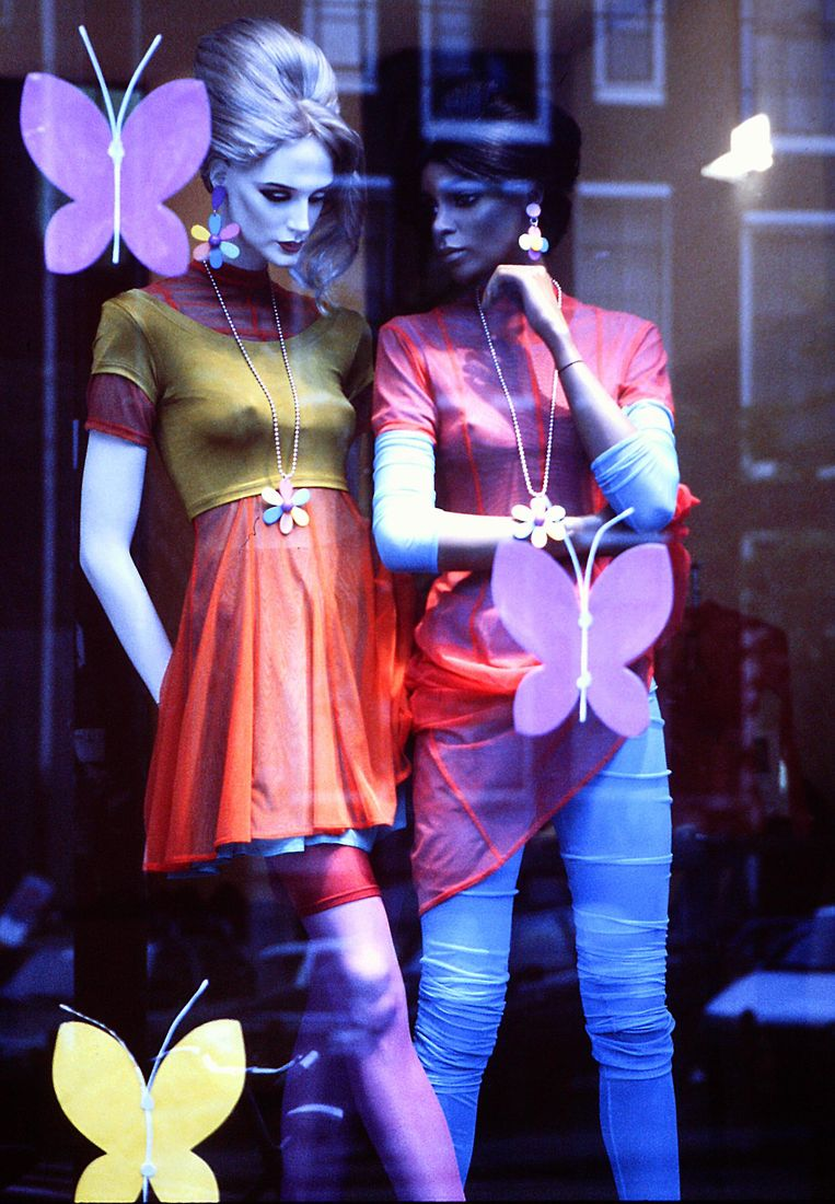 Etalage van Puck & Hans in zomer 1987 Beeld Amsterdam Museum