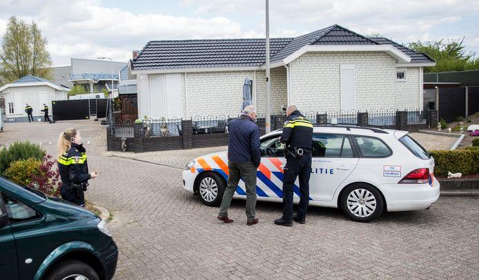 Beeld van de reconstructie van de moord aan de Zweedsestraat in Deventer.