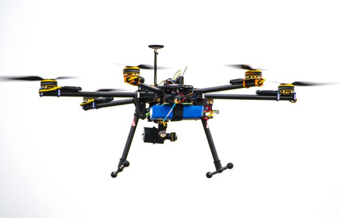 Foto ter illustratie.  Een drone.