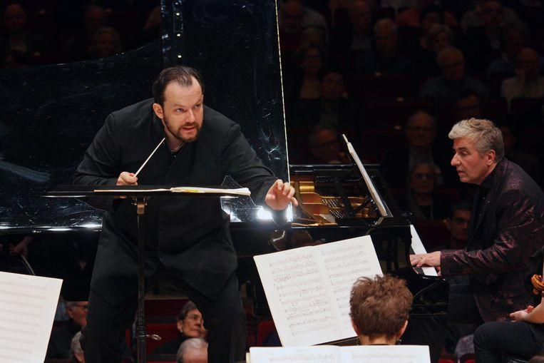Andris Nelsons, de nieuwe Kapellmeister van het Gewandhausorchester uit Leipzig Beeld Getty Images