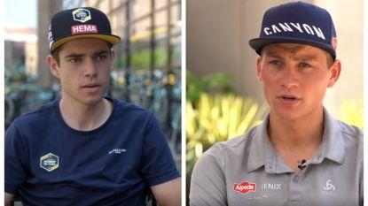 """Van Aert en Van der Poel blikken vooruit naar Milaan-Sanremo, Van Aert ambitieus: """"Mijn honger is nog niet gestild"""""""