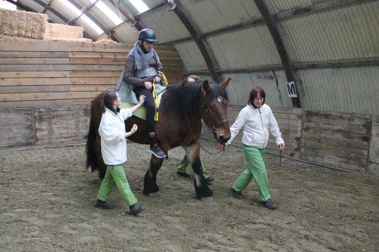 Een patiënt van Inkendaal maakt een rondje met het nieuwe paard Jade