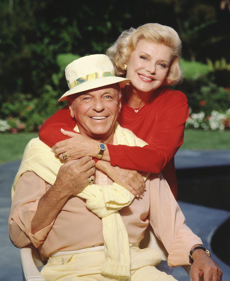 Frank en Barbara Sinatra in 1990. Beeld Harry Langdon / Getty