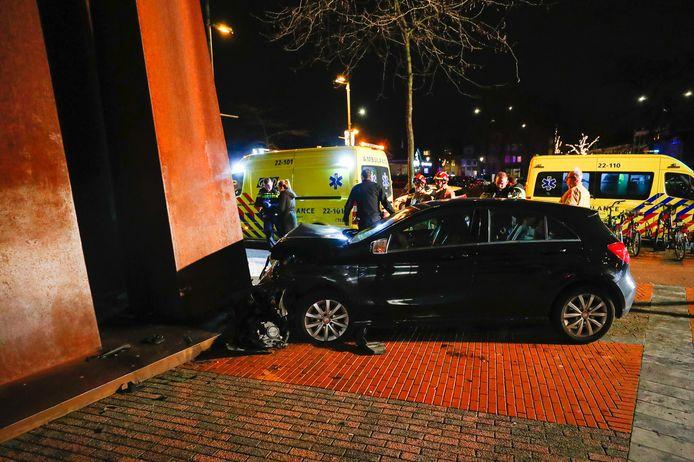 Ongeluk met vier gewonden in centrum van Eindhoven.