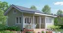 Een tiny house zoals Simone Bergen die wil bouwen in de Slimme Wijk in Helmond.