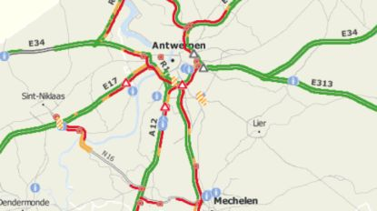 Regen en reeks incidenten leiden zware Antwerpse avondspits in