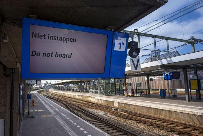 Er rijden geen treinen van en naar Zutphen