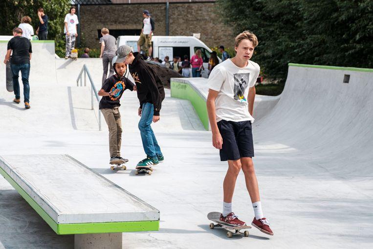 De Lierse skaters kregen inspraak bij de heraanleg, die de stad 100 000 euro kostte.
