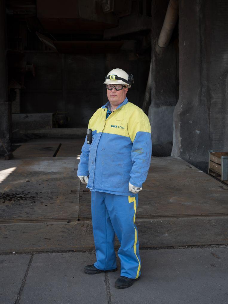 Johan van Boggelen, ingenieur bij Tata: 'Het is en blijft zware industrie.' Beeld Maarten Boswijk