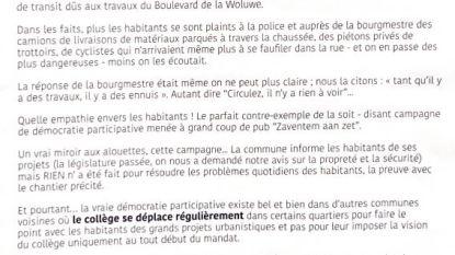 Nieuw eenzijdig Franstalig pamflet Citoyens de Zaventem zet kwaad bloed bij N-VA