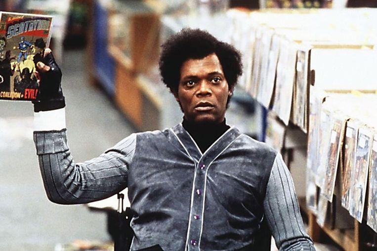 Samuel L. Jackson als Mr. Glass in Unbreakable. Beeld