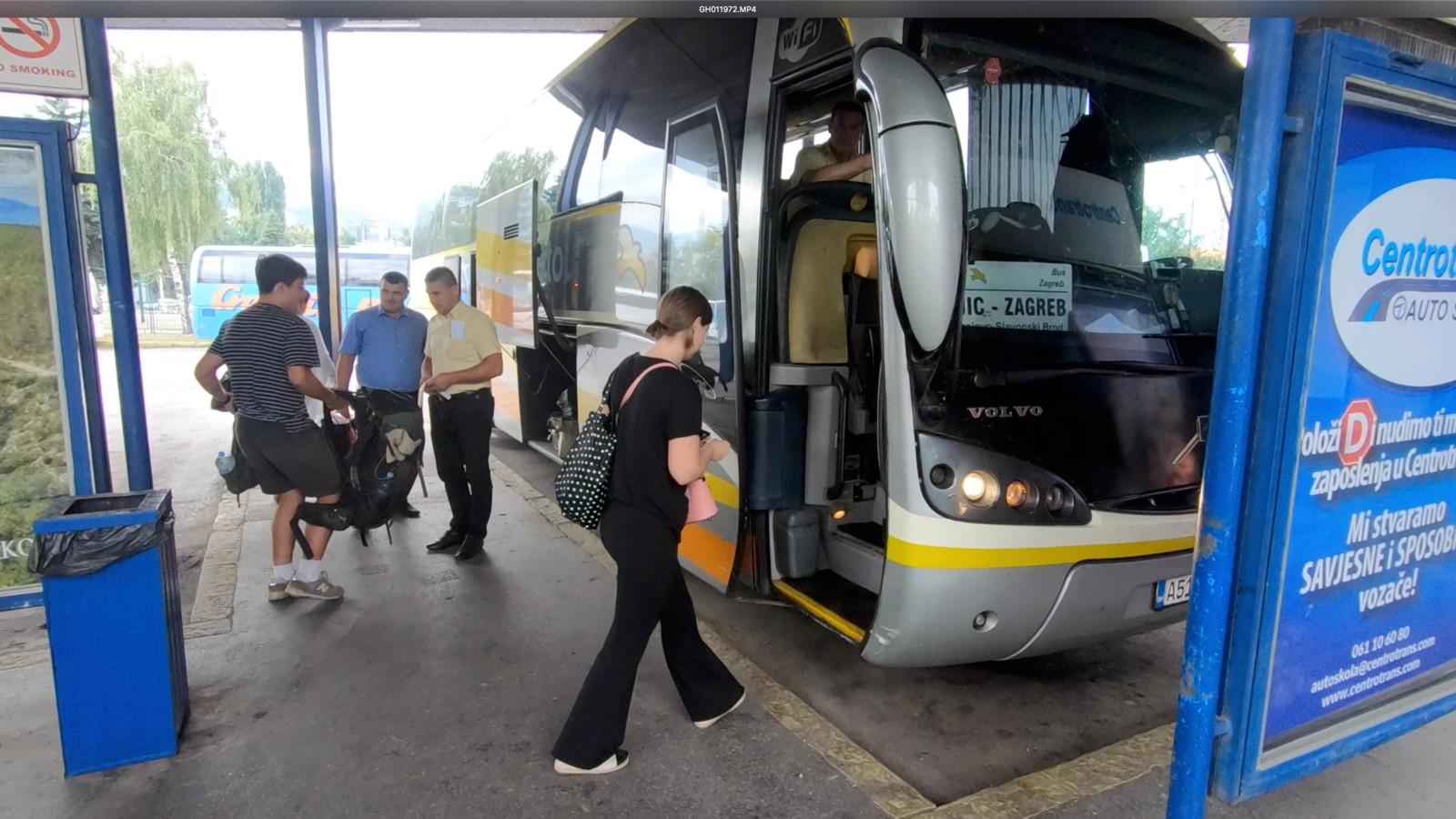 De bus naar Zagreb vanuit Sarajevo