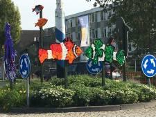 Culemborgse kinderen maken rotondekunstwerk van afval