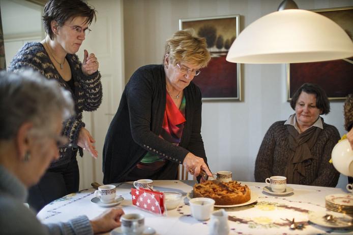 De 73ste verjaardag van Siny Grobben Braakhuis.